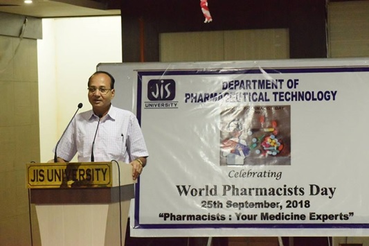 "On the occasion of World Pharmacists Day, (25th September) the Department of Pharmaceutical Technology celebrated by organising a seminar and road show. This year the theme is ""Pharmacists: your medicine experts"" The role of the Pharmacist is improving health around the world is a focus of this year's World Pharmacists Day."