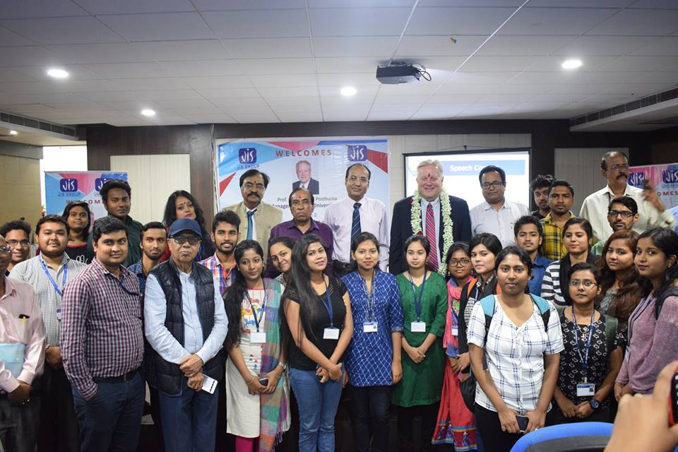 "The Corporate Development Cell(CDC) of JIS Group organized a seminar  with Professor (Dr.) Richard Posthuma, Prof. Management, The University of Texas, El Paso on 5th March 2019.  The topic of the session was ""Interaction with students on Interview Skills"" with the students in the first half .The second session was interaction with faculty members on High Performance work practices, Innovation and Cross Cultural Research, Teaching and Service."